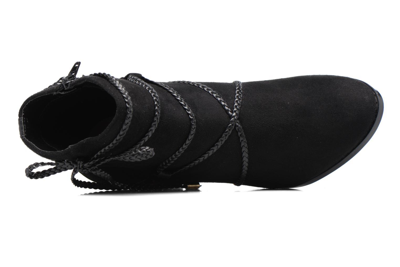 Bottines et boots Divine Factory Diana Noir vue gauche