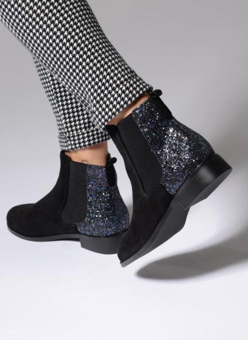 Stiefeletten & Boots Divine Factory Divny schwarz ansicht von unten / tasche getragen