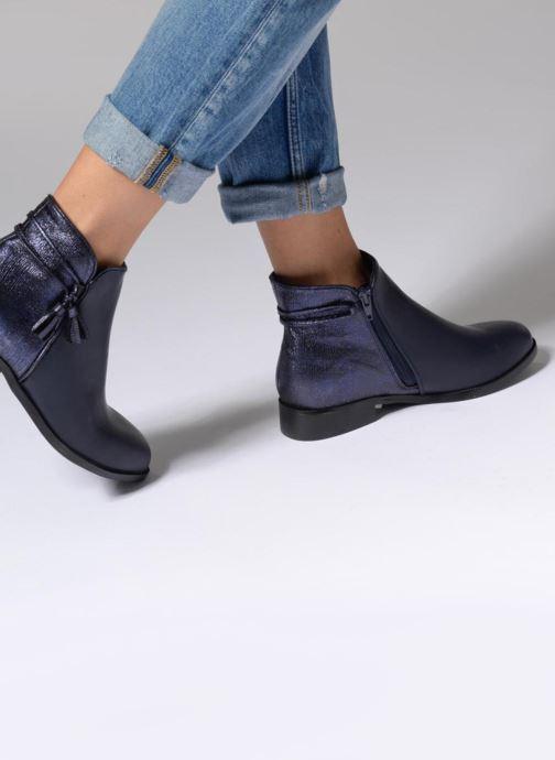 Bottines et boots Divine Factory Hikni Noir vue bas / vue portée sac
