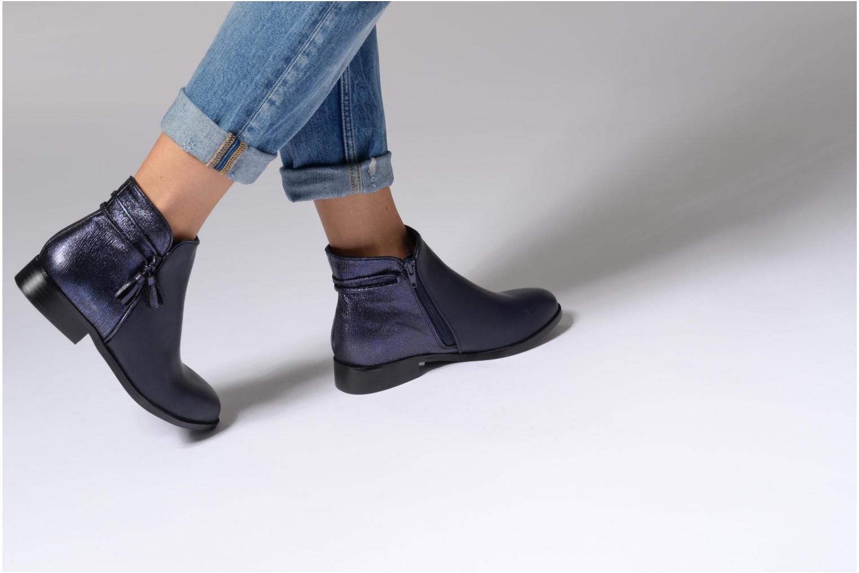 Bottines et boots Divine Factory Hikni Bleu vue bas / vue portée sac
