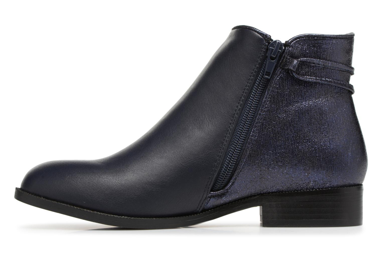 Bottines et boots Divine Factory Hikni Bleu vue face