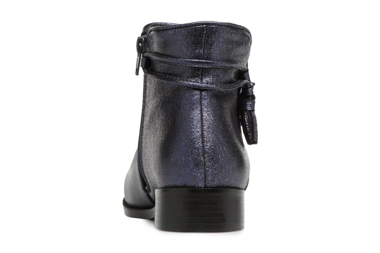 Bottines et boots Divine Factory Hikni Bleu vue droite