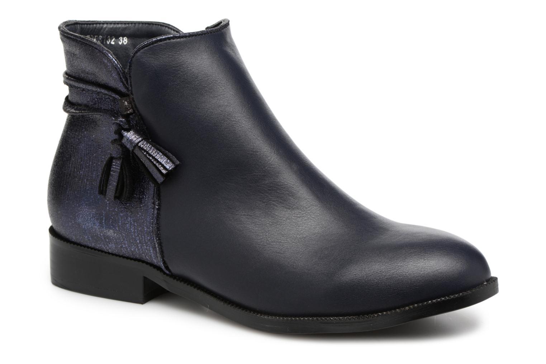 Bottines et boots Divine Factory Hikni Bleu vue détail/paire