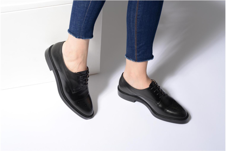 Zapatos con cordones Fratelli Rossetti 75406 Negro vista de abajo