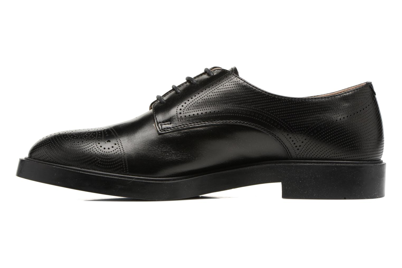 Zapatos con cordones Fratelli Rossetti 75406 Negro vista de frente