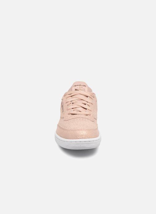 Baskets Reebok Club C Rose vue portées chaussures