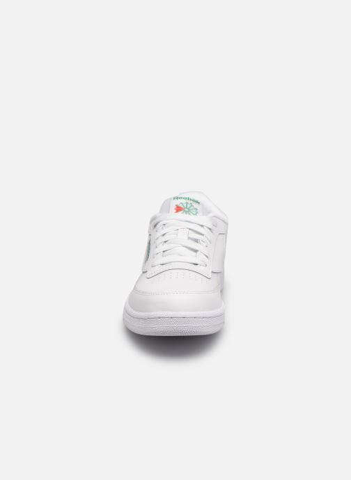 Baskets Reebok Club C Vert vue portées chaussures