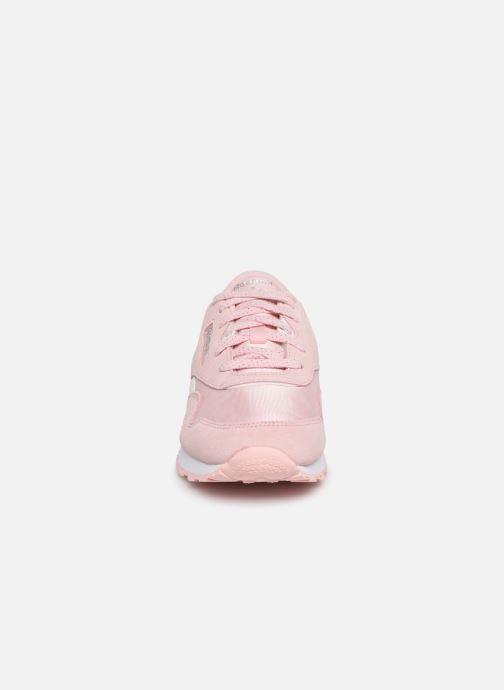 Baskets Reebok Cl Nylon J Rose vue portées chaussures