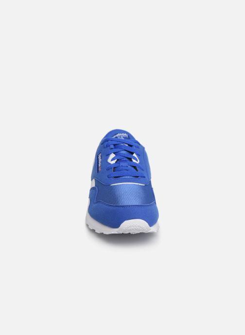 Baskets Reebok Cl Nylon J Bleu vue portées chaussures