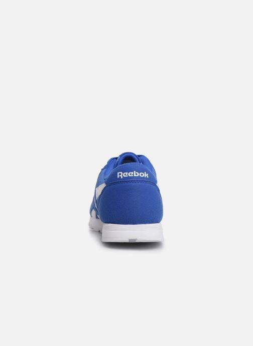 Baskets Reebok Cl Nylon J Bleu vue droite