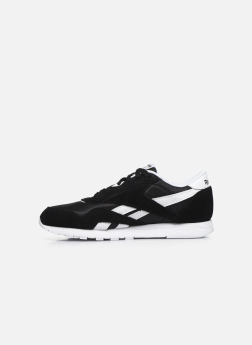 Baskets Reebok Cl Nylon J Noir vue face