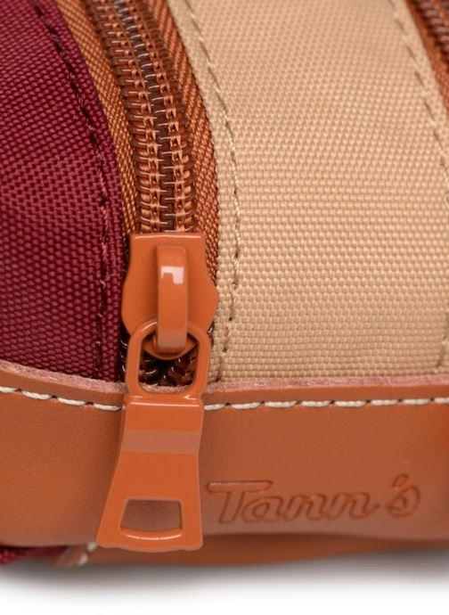 Scolaire Tann's Trousse double Iconic Rouge vue gauche