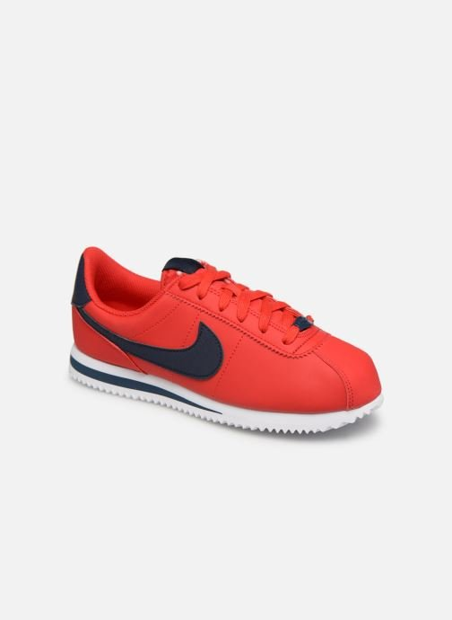 Baskets Nike Cortez Basic Sl (Gs) Rouge vue détail/paire