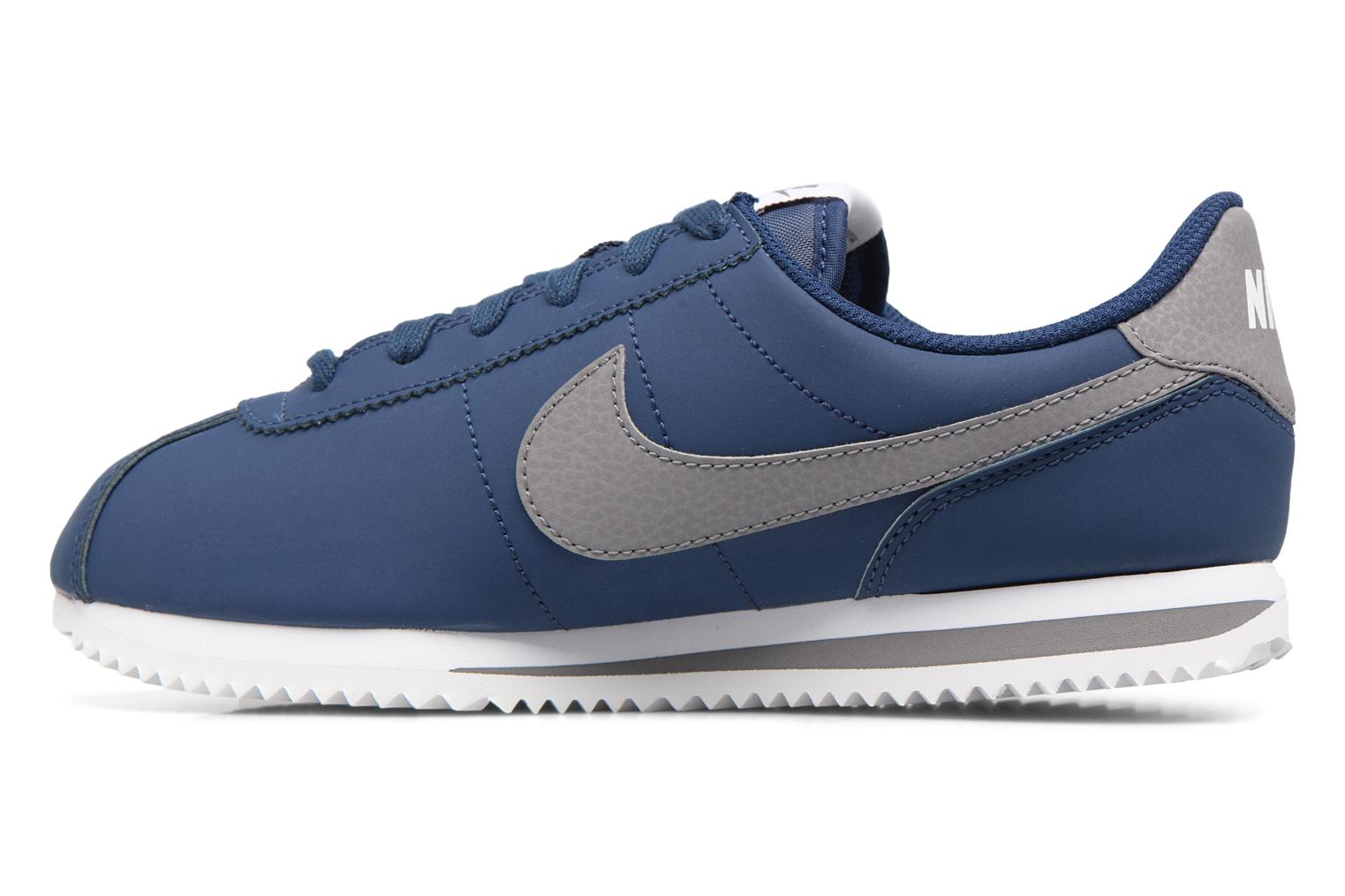 Baskets Nike Cortez Basic Sl (Gs) Bleu vue face