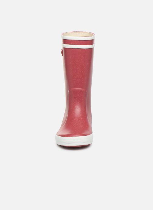 Bottes Aigle Lolly Pop Glit Bordeaux vue portées chaussures