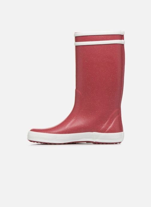 Boots & wellies Aigle Lolly Pop Glit Burgundy front view