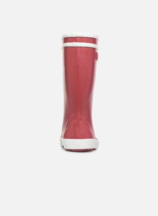 Boots & wellies Aigle Lolly Pop Glit Burgundy view from the right