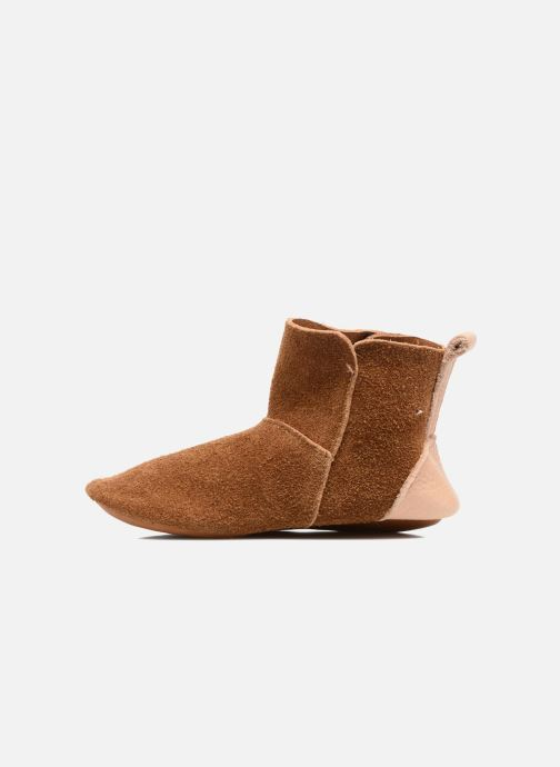 Slippers Hippie Ya Vic Brown front view
