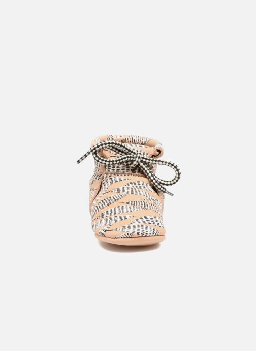 Chaussons Hippie Ya Booties Collab HY & Moumout Beige vue portées chaussures