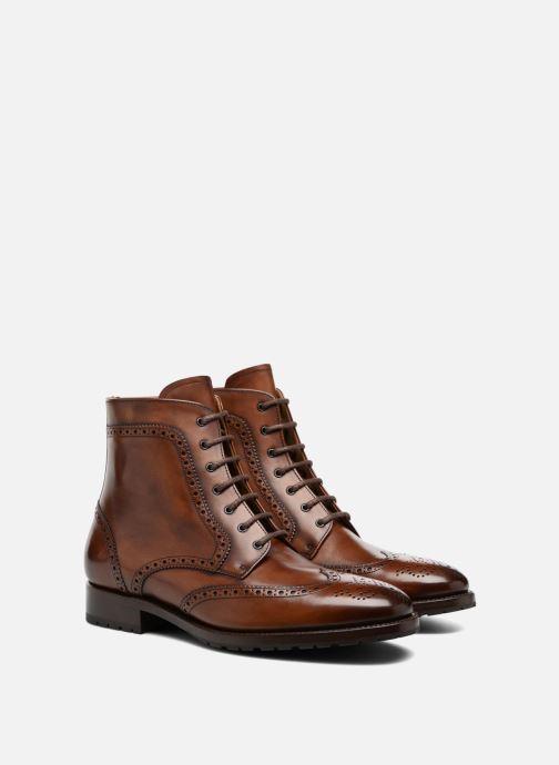 Bottines et boots Marvin&Co Luxe Westner - Cousu Goodyear Marron vue 3/4