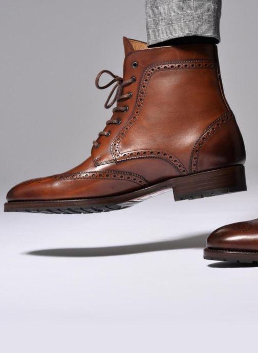 Bottines et boots Marvin&Co Luxe Westner - Cousu Goodyear Marron vue bas / vue portée sac