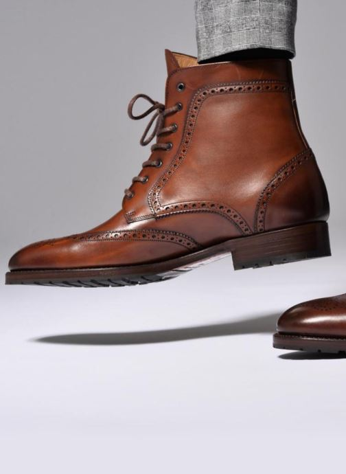 Ankle boots Marvin&Co Luxe Westner - Cousu Goodyear Brown view from underneath / model view