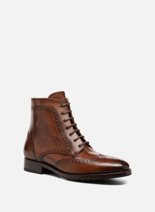 Bottines et boots Marvin&Co Luxe Westner - Cousu Goodyear Marron vue détail/paire