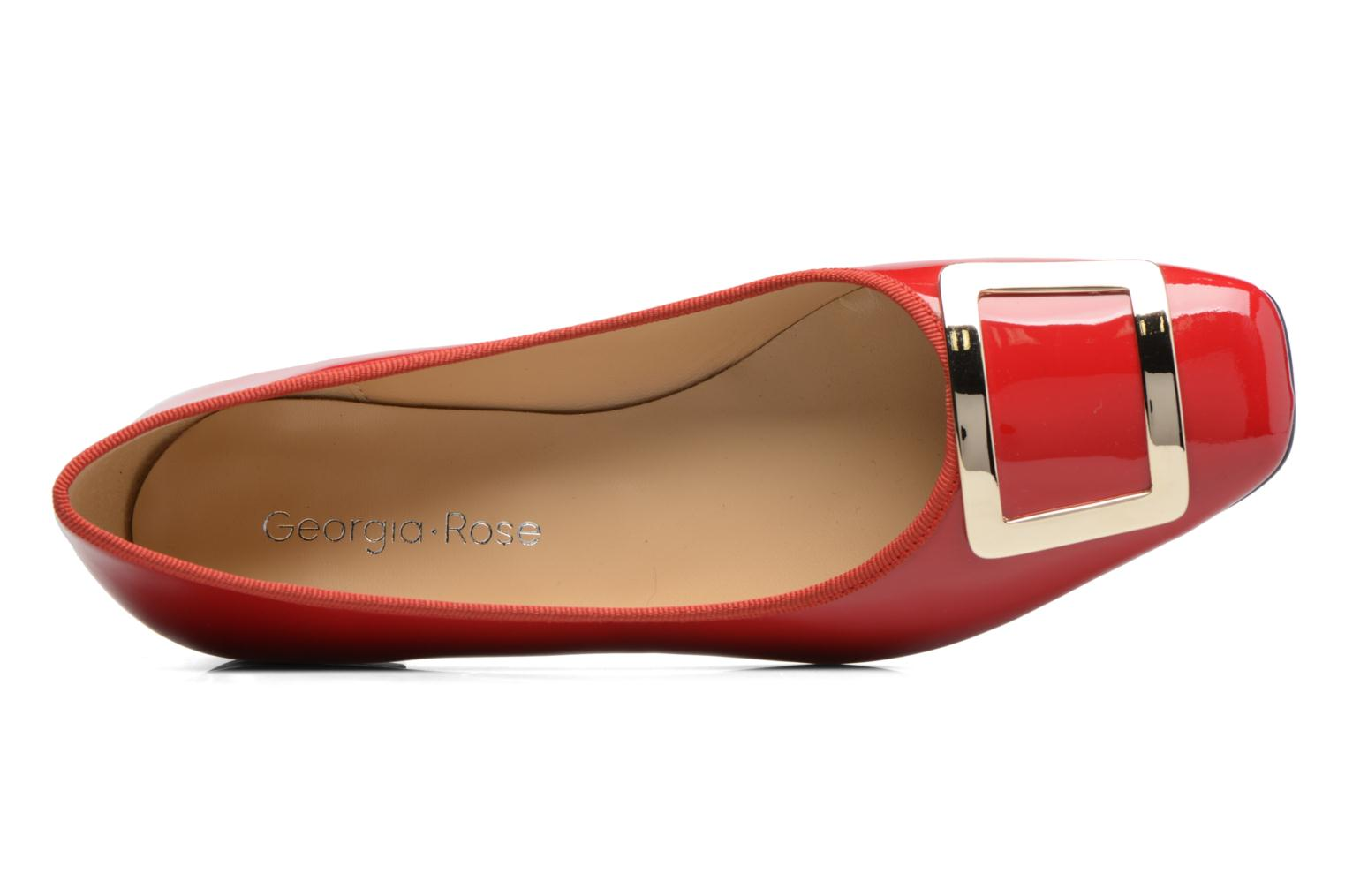 Ballet pumps Georgia Rose Saboucle Red view from the left