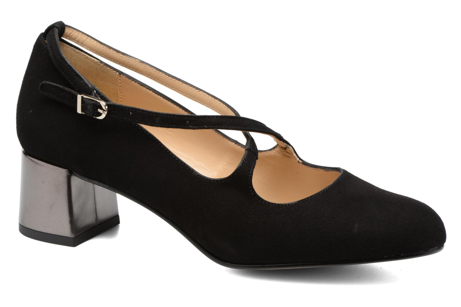High heels Georgia Rose Sully Black detailed view/ Pair view