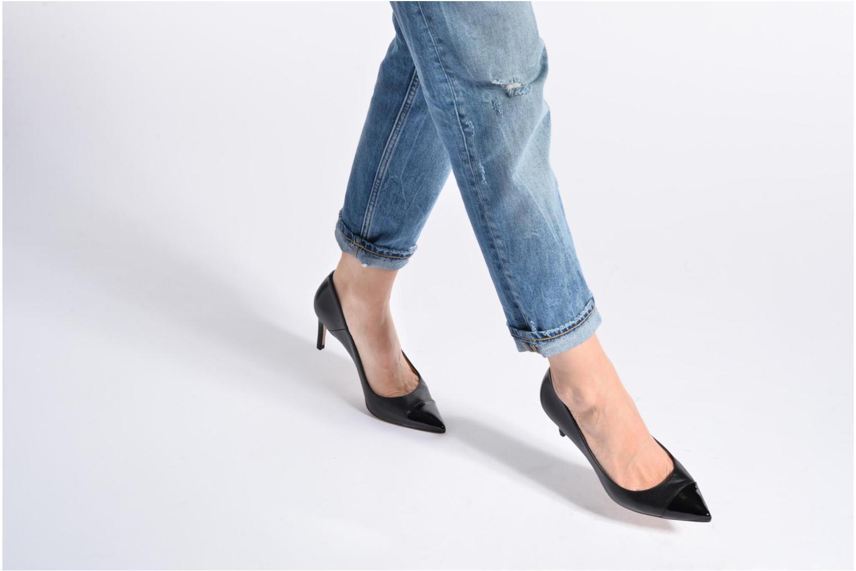 Zapatos de tacón Georgia Rose Sophia Negro vista de abajo