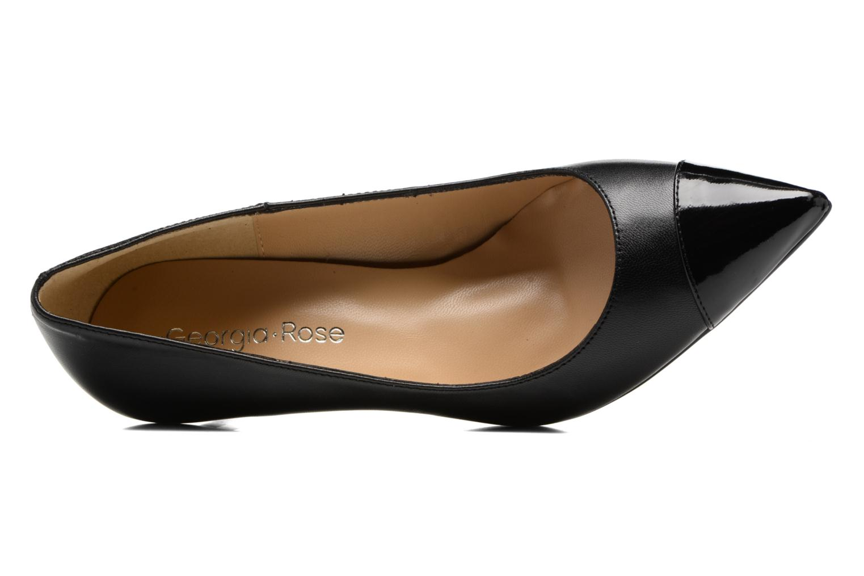 Zapatos de tacón Georgia Rose Sophia Negro vista lateral izquierda