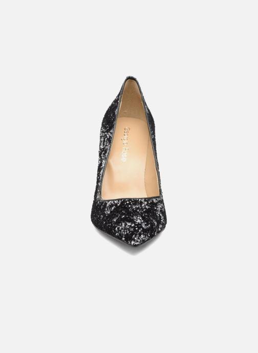 Zapatos de tacón Georgia Rose Shiny Plateado vista del modelo