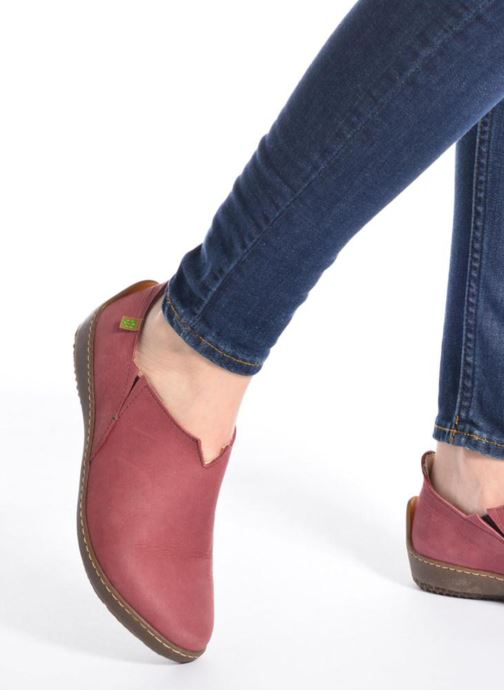 Loafers El Naturalista Bee ND80 Burgundy view from underneath / model view
