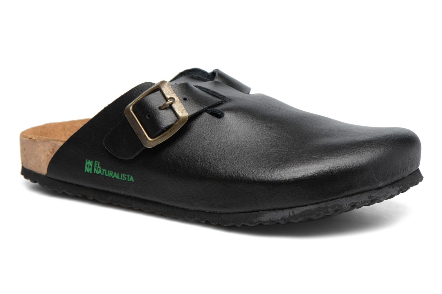 Mules & clogs El Naturalista Waraji NE32 Black detailed view/ Pair view