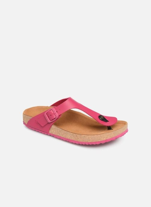 Sandals El Naturalista Waraji NE59 Pink detailed view/ Pair view