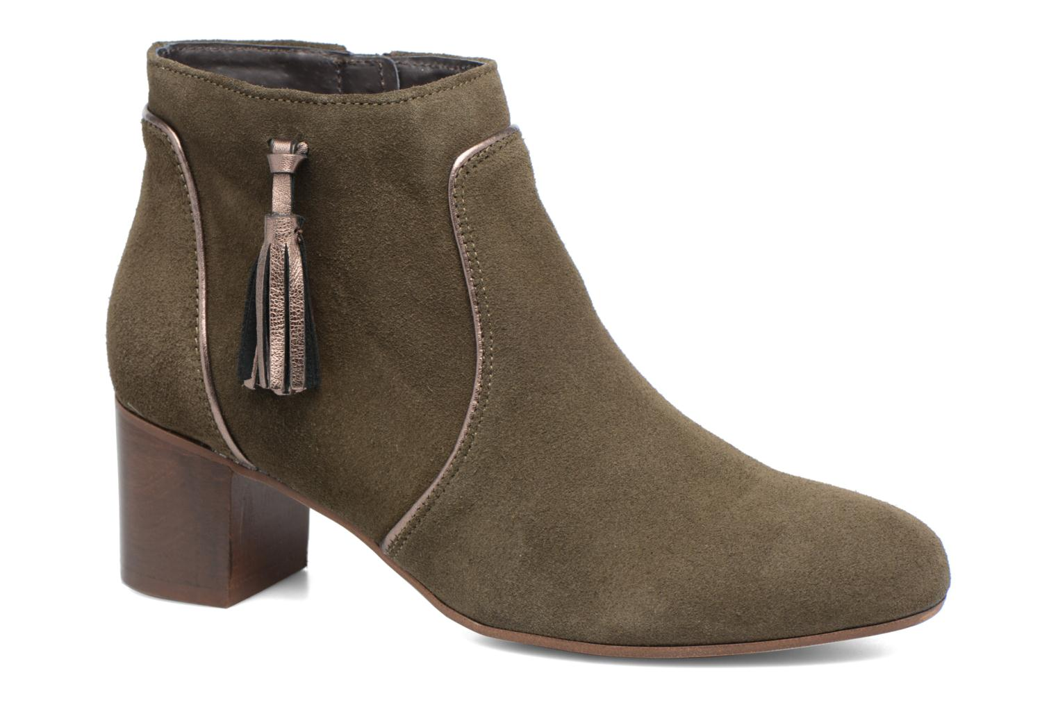 Ankle boots Georgia Rose Cemode Green detailed view/ Pair view