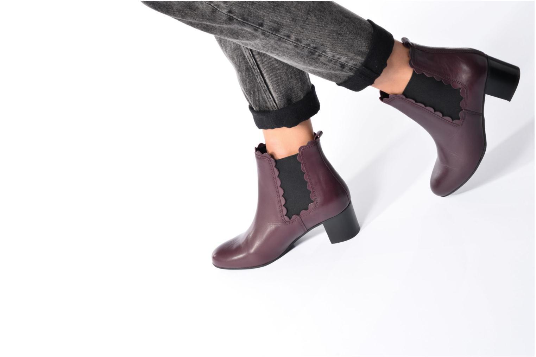 Bottines et boots Georgia Rose Cecroque Bordeaux vue bas / vue portée sac