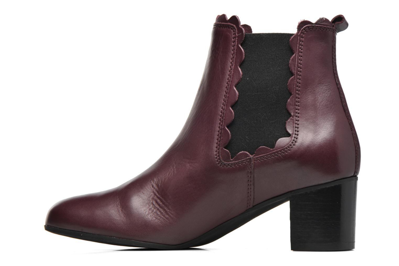 Bottines et boots Georgia Rose Cecroque Bordeaux vue face