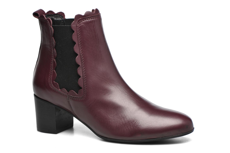 Bottines et boots Georgia Rose Cecroque Bordeaux vue détail/paire