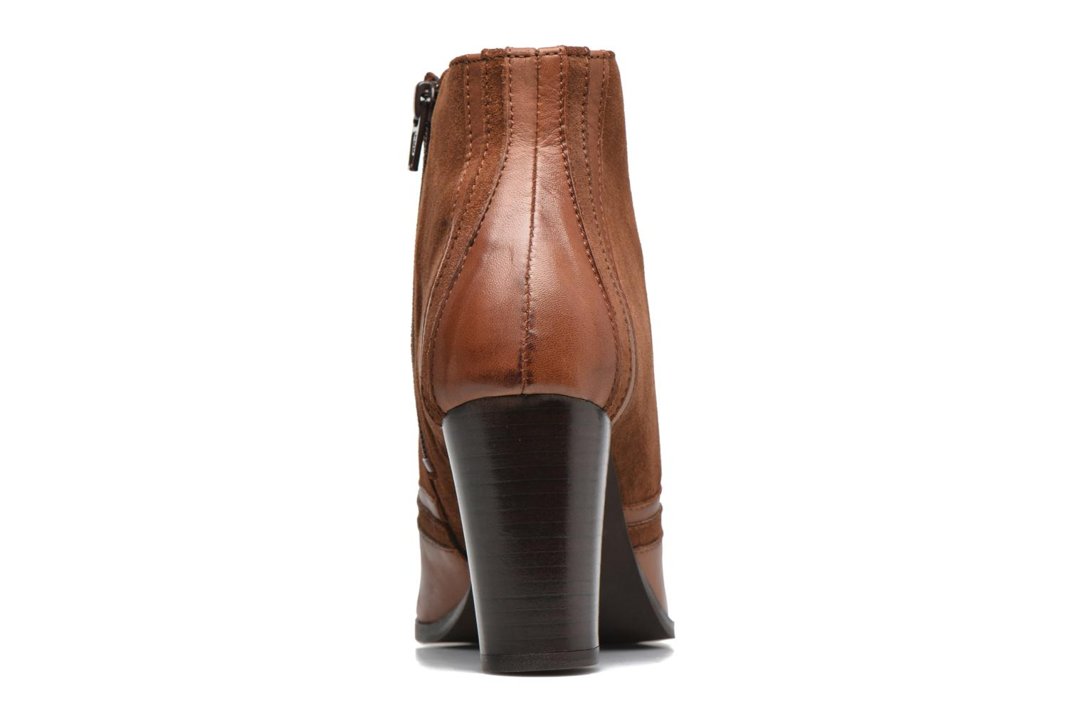 Ankle boots Georgia Rose Cepart Brown view from the right