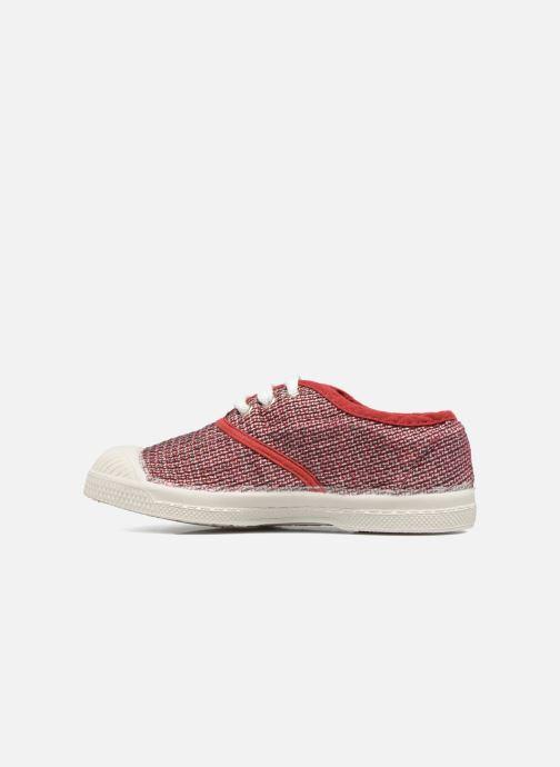 Sneakers Bensimon Tennis Fancy Linen E Rød se forfra