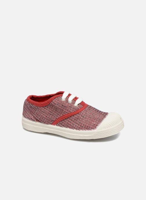 Sneakers Bensimon Tennis Fancy Linen E Rød detaljeret billede af skoene