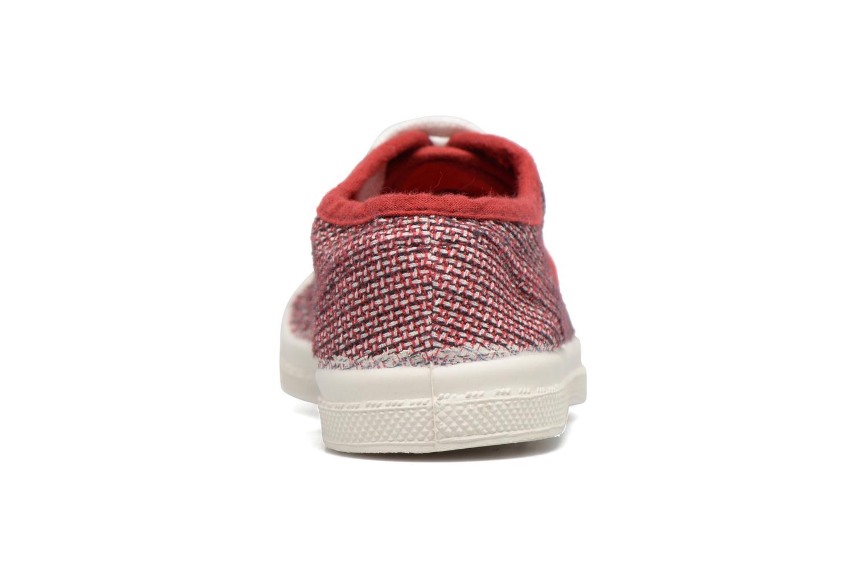 Sneakers Bensimon Tennis Fancy Linen E Rosso immagine destra
