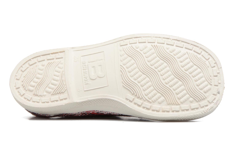 Sneakers Bensimon Tennis Fancy Linen E Rosso immagine dall'alto