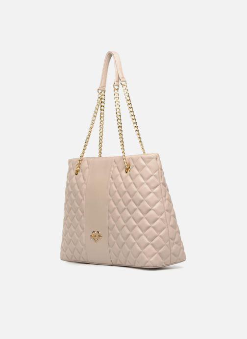 Handtaschen Love Moschino Cabas Super Quilted beige schuhe getragen