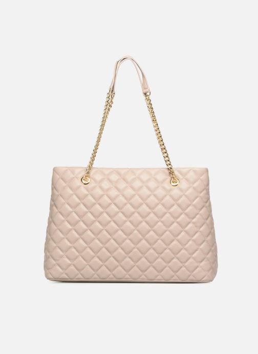 Handtaschen Love Moschino Cabas Super Quilted beige ansicht von vorne