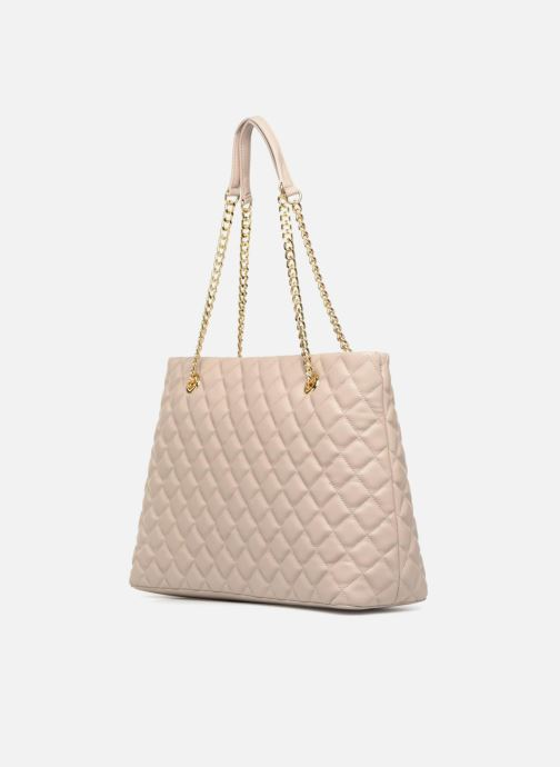 Handtaschen Love Moschino Cabas Super Quilted beige ansicht von rechts