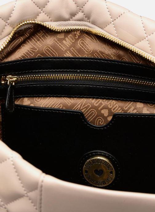 Handtaschen Love Moschino Cabas Super Quilted beige ansicht von hinten