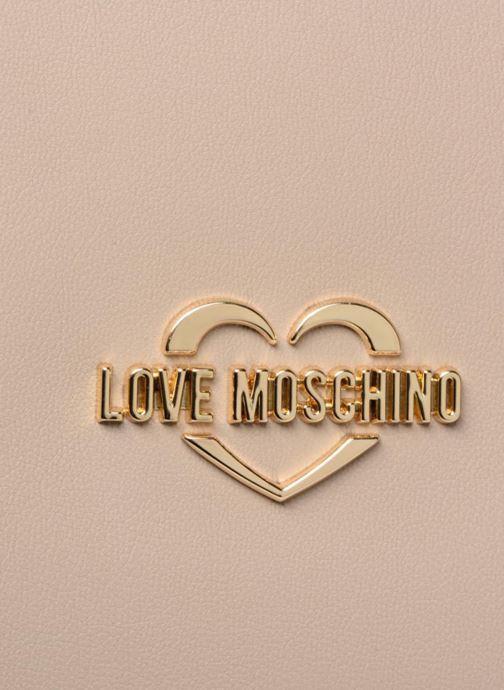 Handtaschen Love Moschino Cabas Super Quilted beige ansicht von links