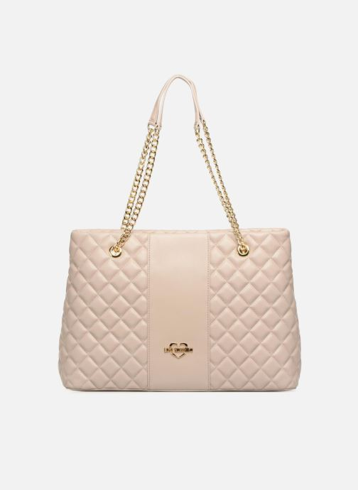 Handtaschen Love Moschino Cabas Super Quilted beige detaillierte ansicht/modell
